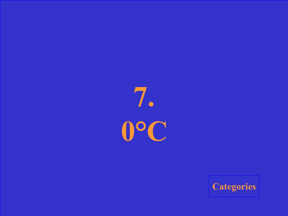 7. What is the melting point of frozen water (ice) on the Celsius scale