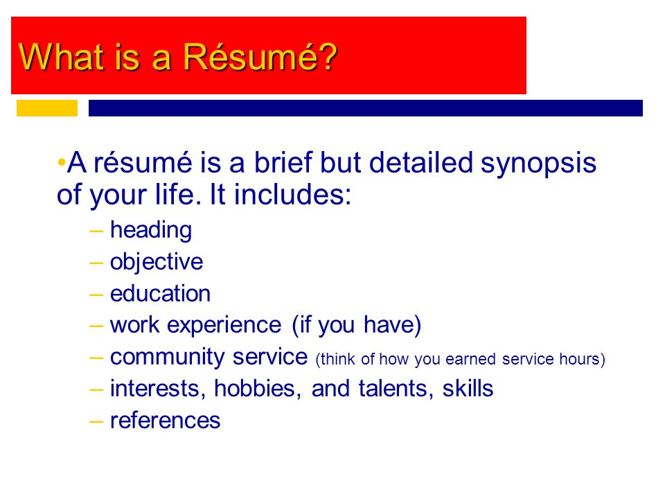 what is a rsum a rsum is a brief but detailed synopsis of your life - Tips For A Good Resume