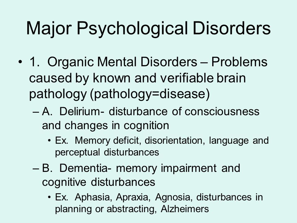 Name that Abnormal Psych Disorder!?