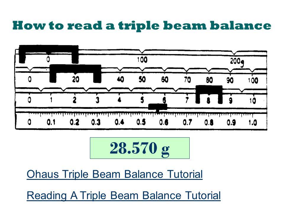 Triple Beam Balance Scale Reading 94046   BITNOTE