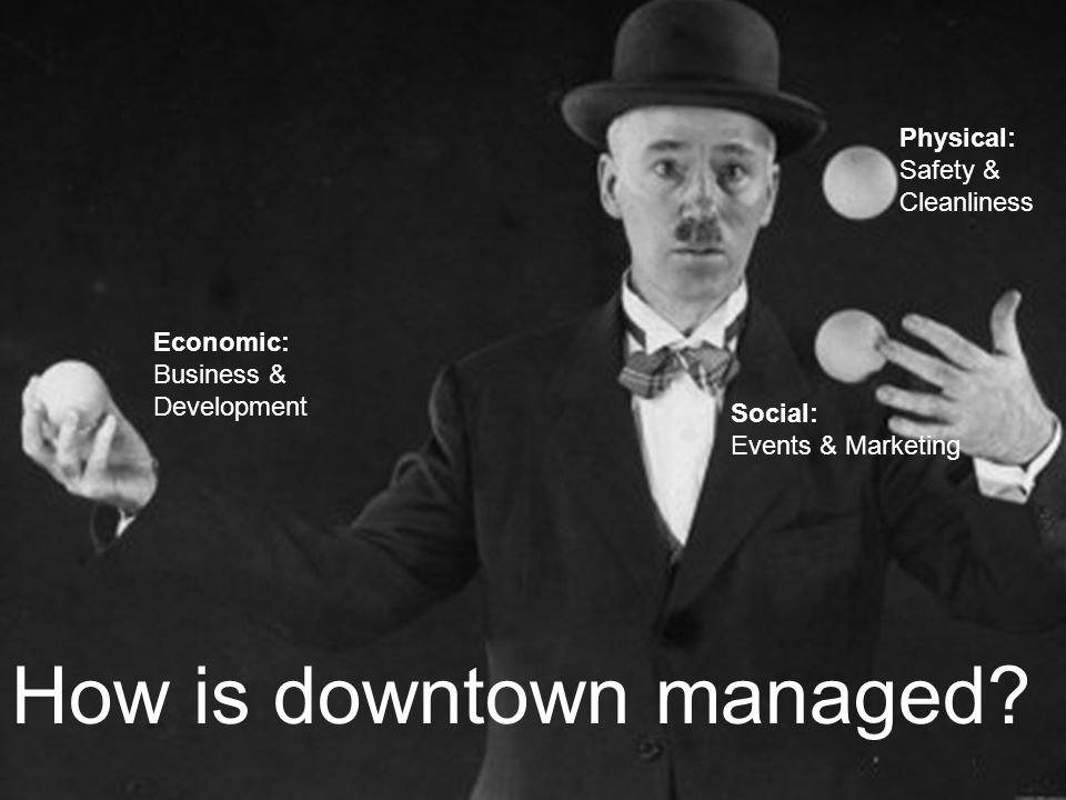 How is downtown managed.