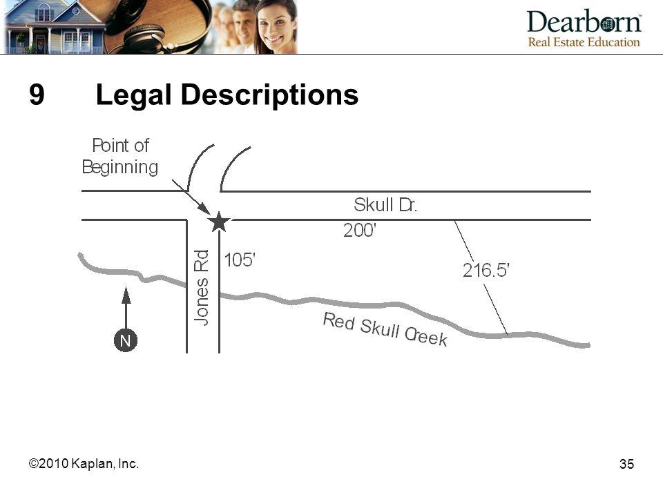 35 ©2010 Kaplan, Inc. 9Legal Descriptions