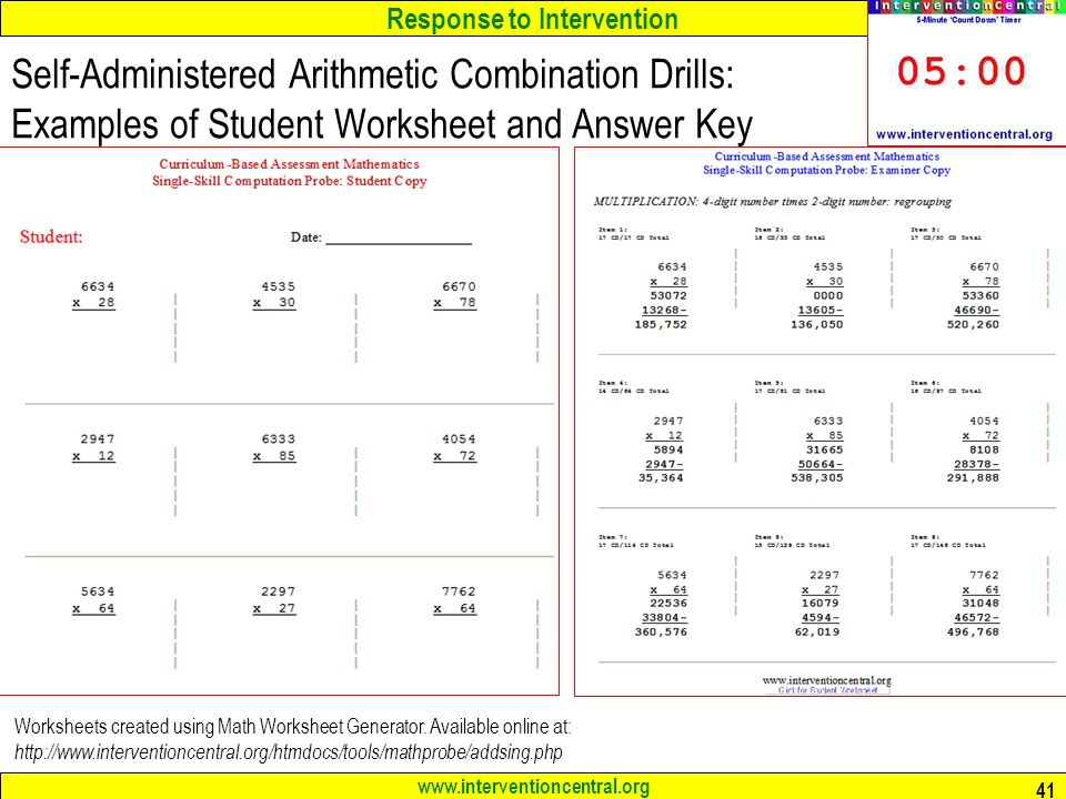 math worksheet : response to intervention rti teams best practices in elementary  : Math Worksheet Org