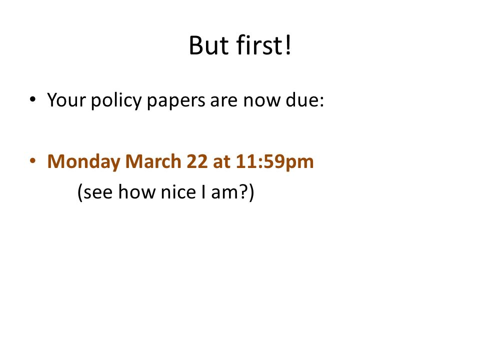 Due Now Papers