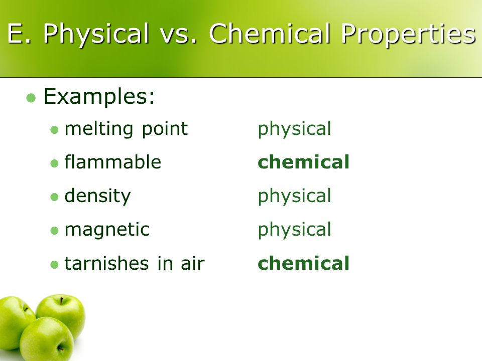 E. Physical vs.