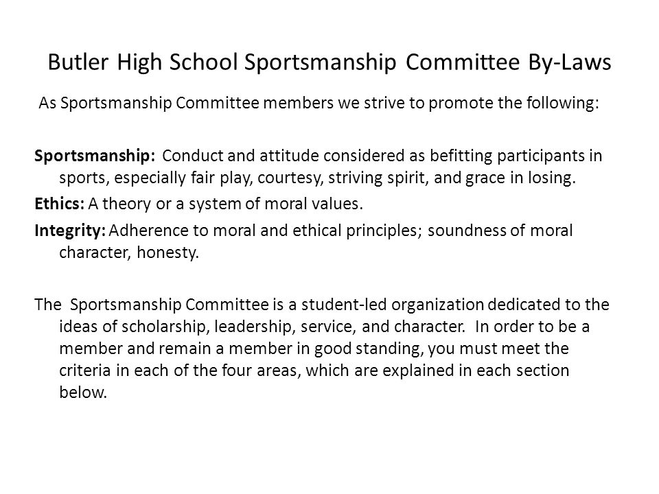 Sportsmanship Definition Essay