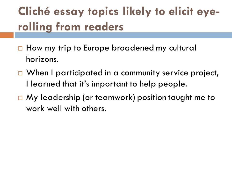 cliches in essays