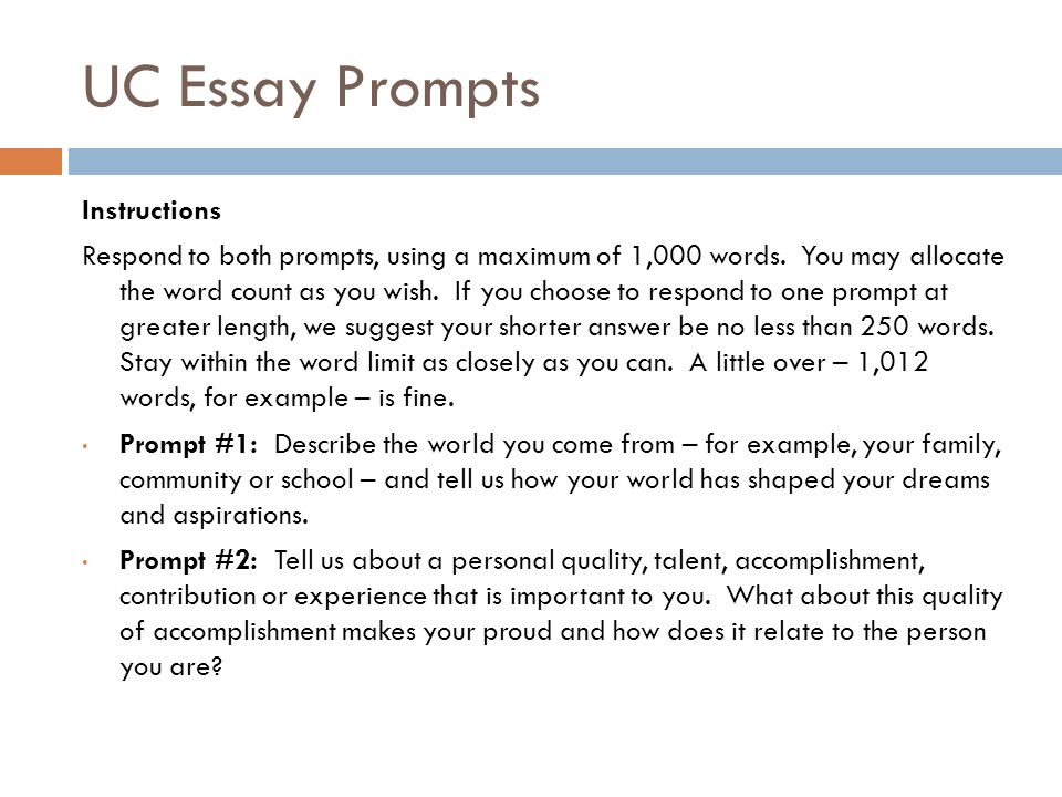 uc personal statement sample essay prompt 1