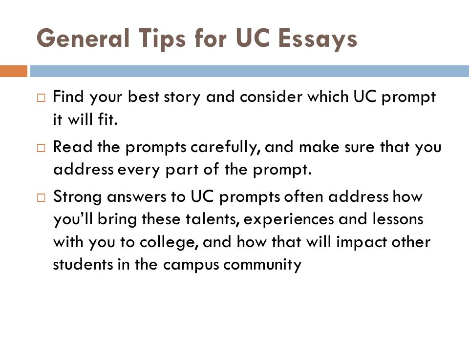 uc app essay The application can be used for multiple uc campuses, and it is also an application for scholarships a: freshmen must take either the act plus writing or the sat with essay no later than december of the senior year the university does not require sat subject tests, but certain programs on some uc.