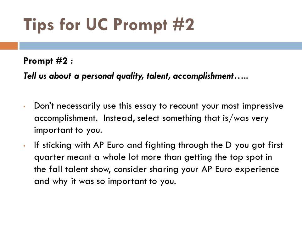 UC prompt 1?