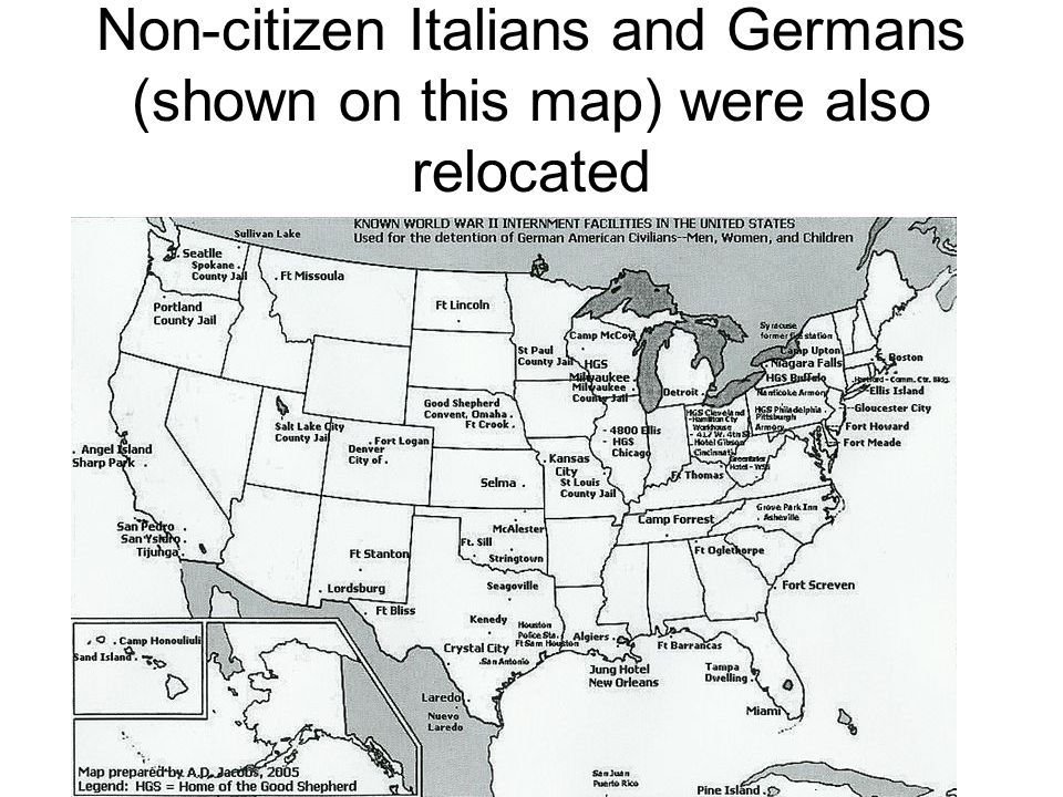 American Homefront WWII Ppt Video Online Download - Map of italian internment camps in us