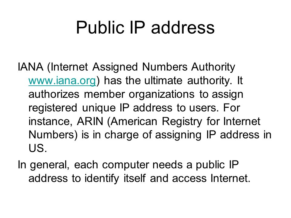 Internet assigned numbers authority