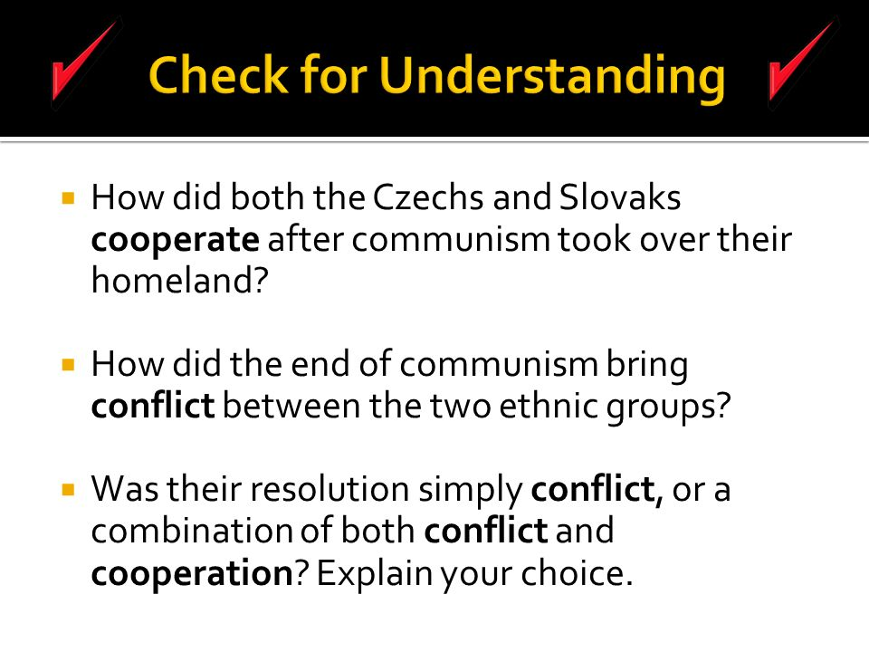  How did both the Czechs and Slovaks cooperate after communism took over their homeland.