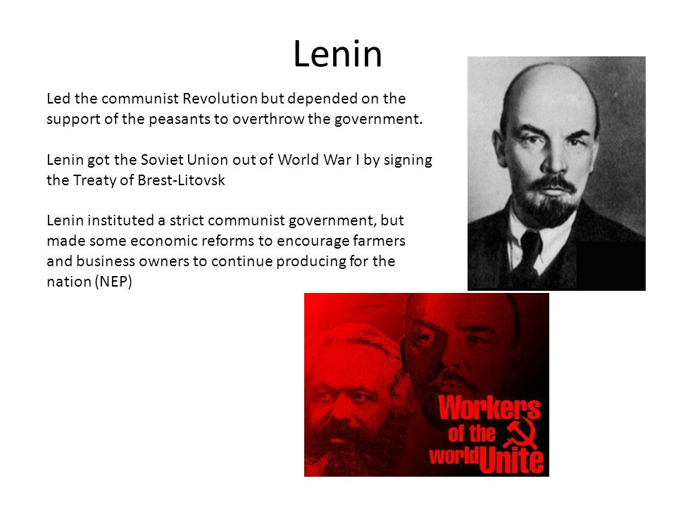 Why did people support Lenin and the Communists?