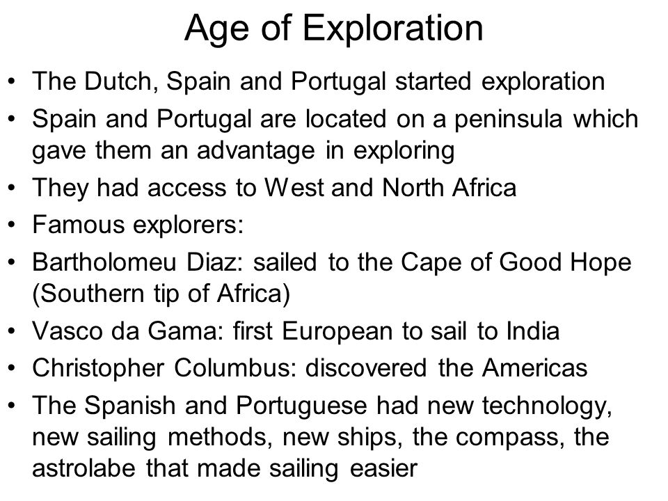 essay about the age of exploration