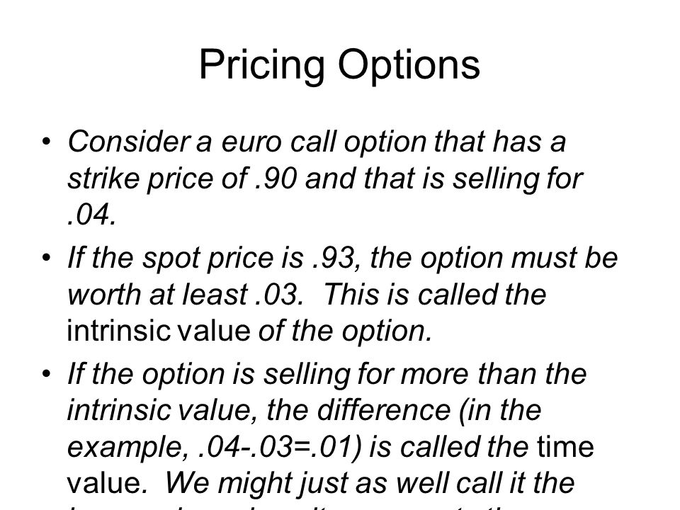 If you also buy a put option with a strike price of.90 for.01, your underlying position looks like this.