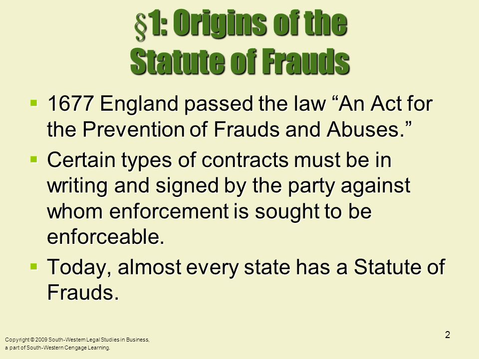 what role does the statute of frauds play in this contract Chapter 13 form and meaning how does the statute of frauds play with contract the district court correctly determined that the threshold issue is the role.