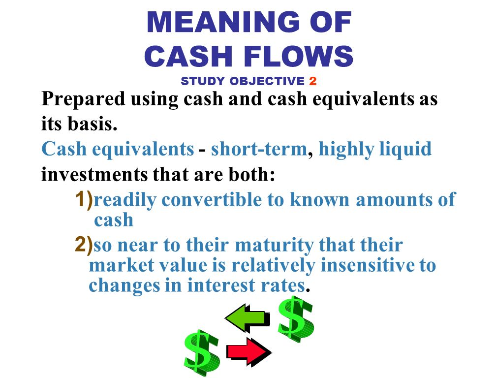 STUDY OBJECTIVE 1 Provides information about an entity's cash receipts and cash payments during a period.