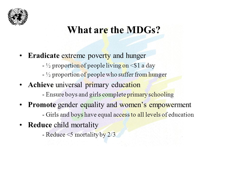 What are the MDGs.