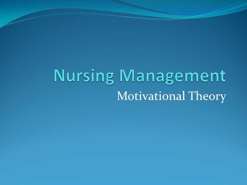 Motivational Theory
