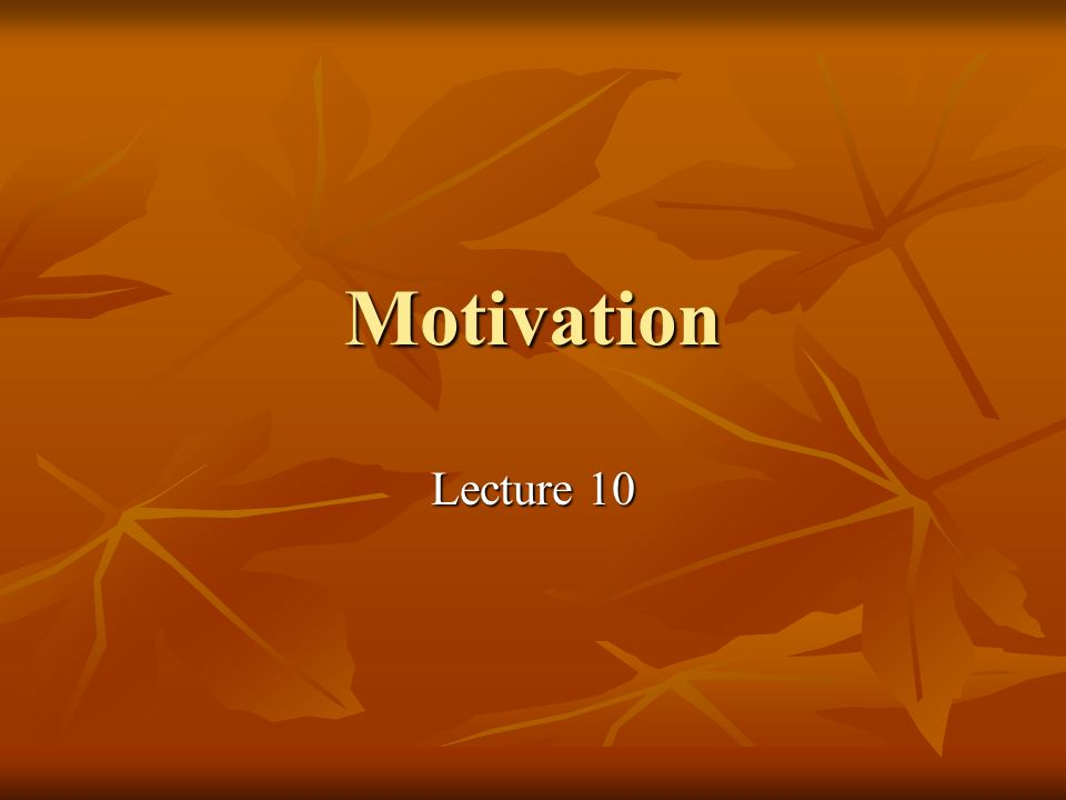 Motivation definition It is a set of forces that cause people to behave in certain ways; It is a set of forces that cause people to behave in certain ways; It is the reason to take certain action; It is the reason to take certain action; Motivation can be internal and external.