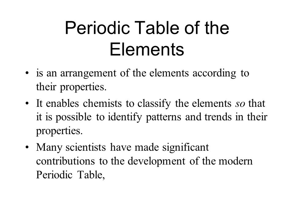 Periodic Table glenn seaborg contributions to the modern periodic table : Historical Development of the Periodic Table. Periodic Table of ...