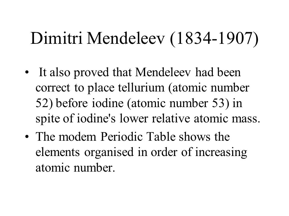 Historical development of the periodic table periodic table of the 21 dimitri urtaz Choice Image