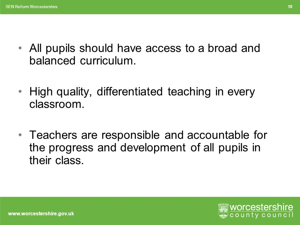 All pupils should have access to a broad and balanced curriculum.