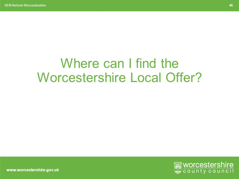 Where can I find the Worcestershire Local Offer.
