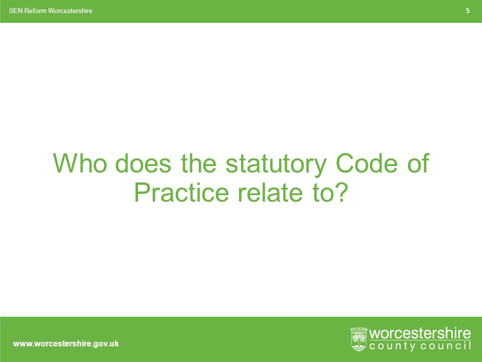 Who does the statutory Code of Practice relate to.