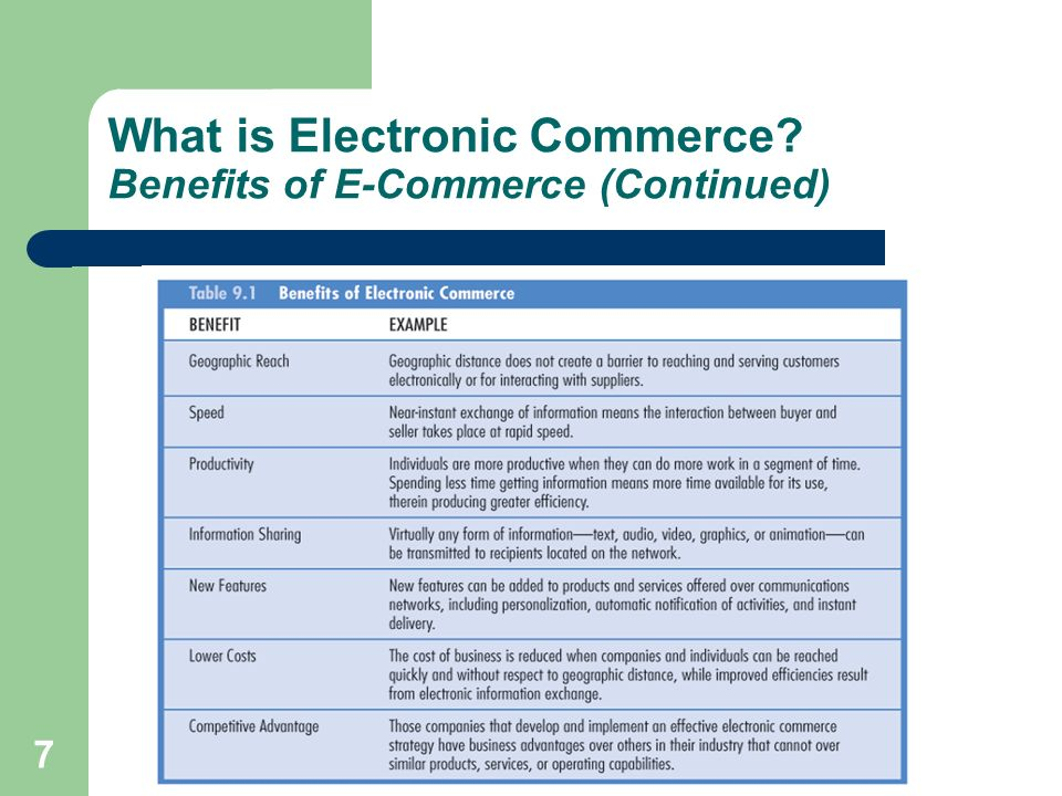 28 Business-to-Business E-Commerce Applications Electronic Exchange Electronic Exchange/B2B hub: Commerce sites on the Internet where buyers and sellers can come together to shop, exchange information, or carry out transactions to buy or sell products and services.