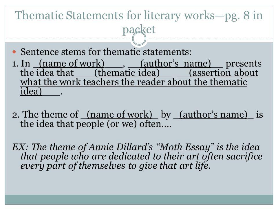 Literary thesis statement