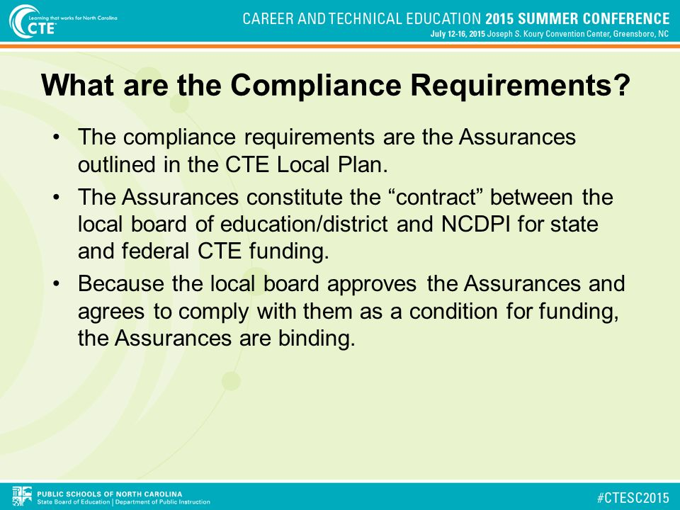 What are the Compliance Requirements.