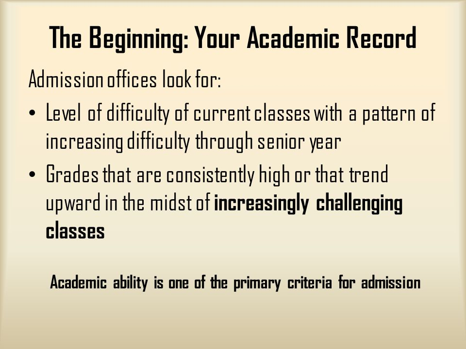 What does a senior in HS need to do to prepare for college?