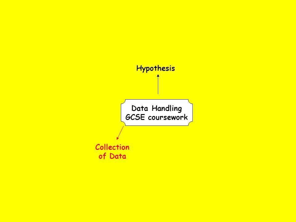 data handling gcse coursework hypothesis collection of data data  3 collection of data data handling gcse coursework hypothesis