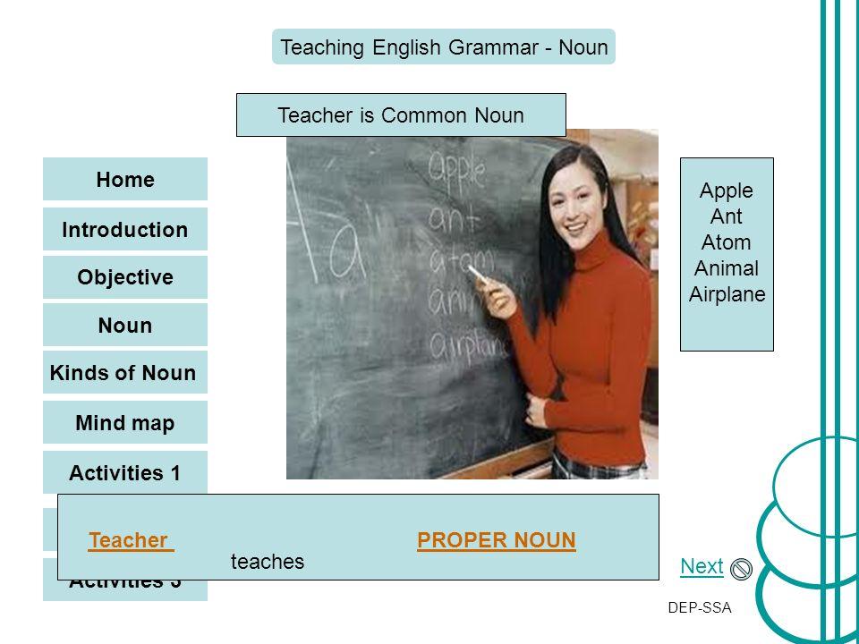 introduction of noun teaching