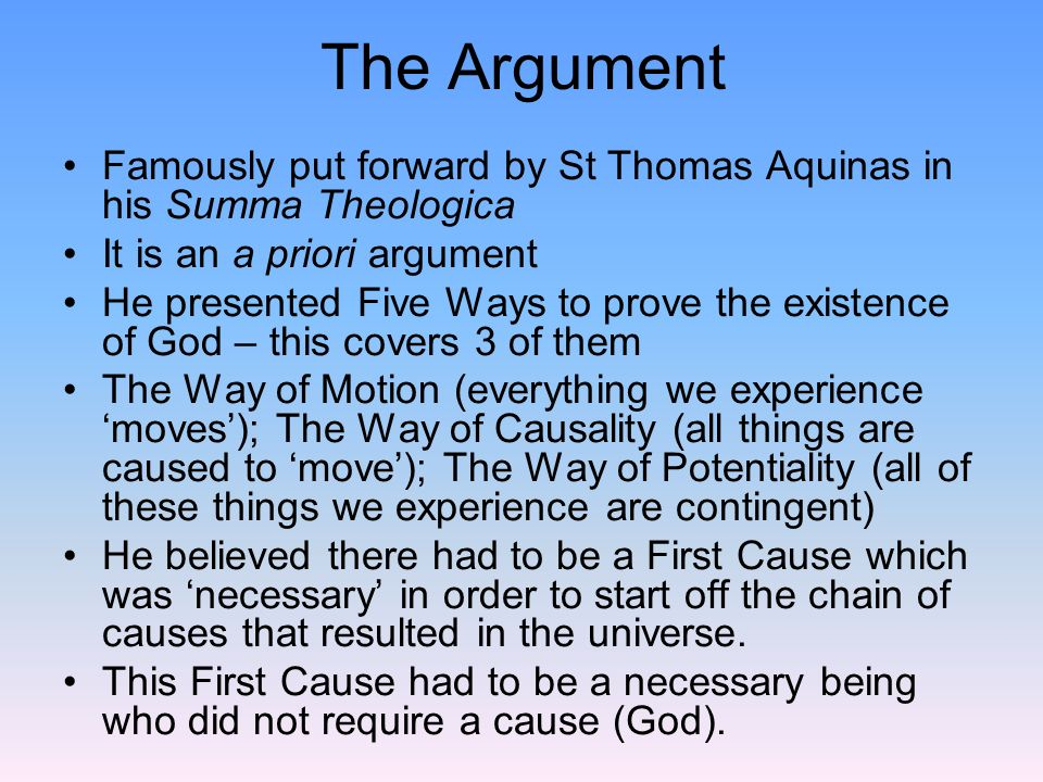 essays argument
