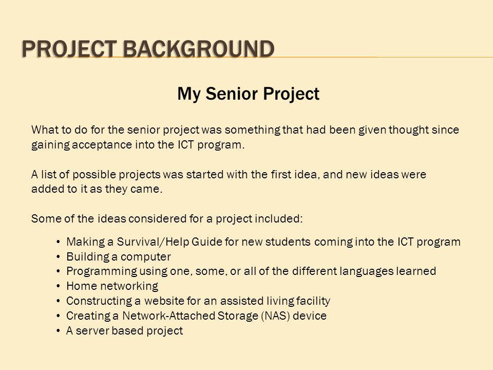 Can someone help me with my Senior project Introduction?