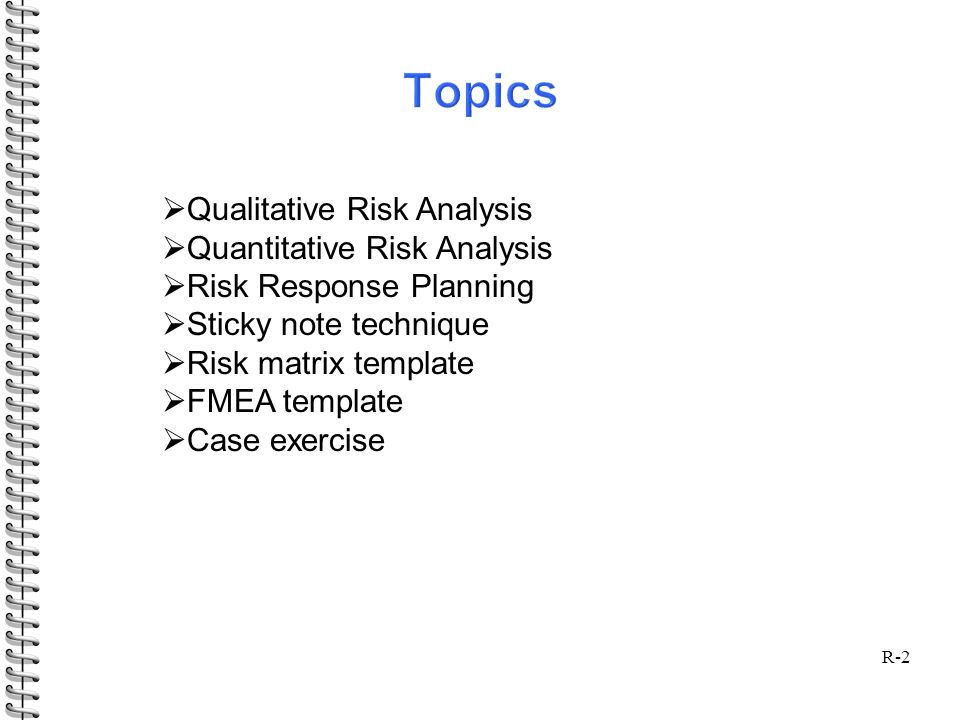 R Project Risk Management R  Qualitative Risk Analysis