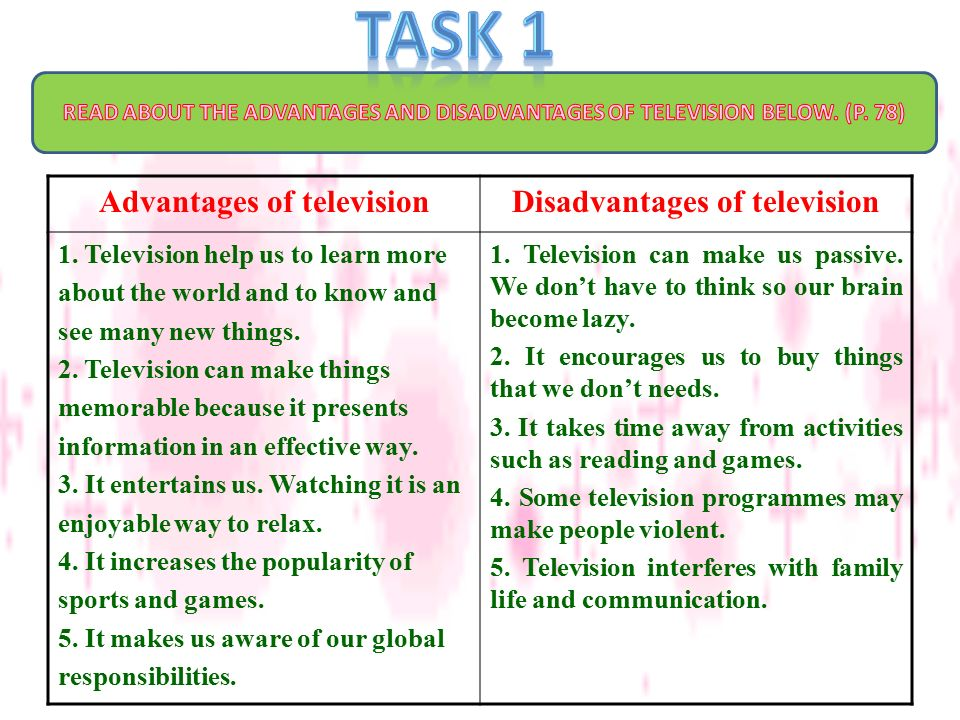 advantages of television essay