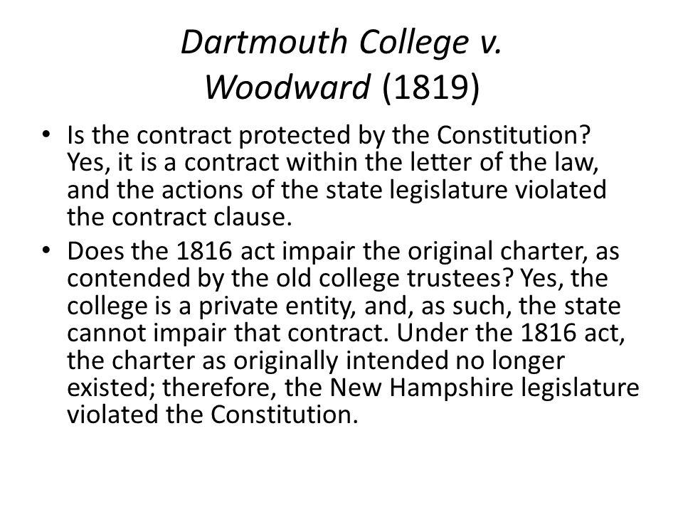 court case dartmouth college vs woodward