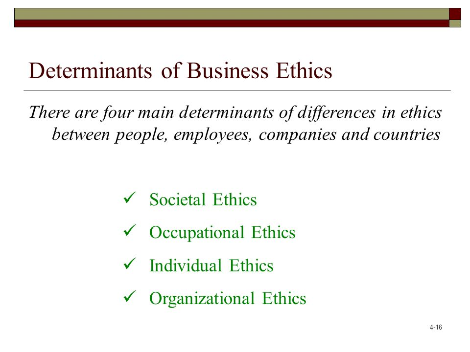 4-17 Individual Ethics: Three Levels of Personal Moral Development (based on L.