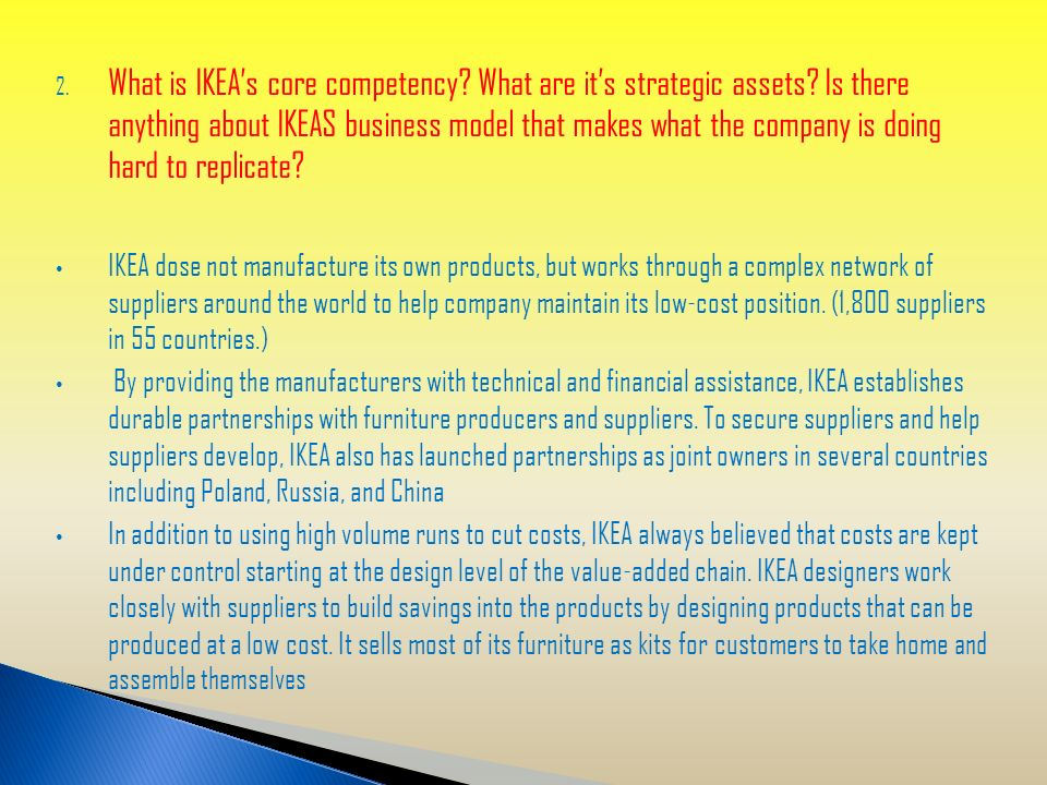 What Is Ikea S Core Competency Are It Strategic Ets