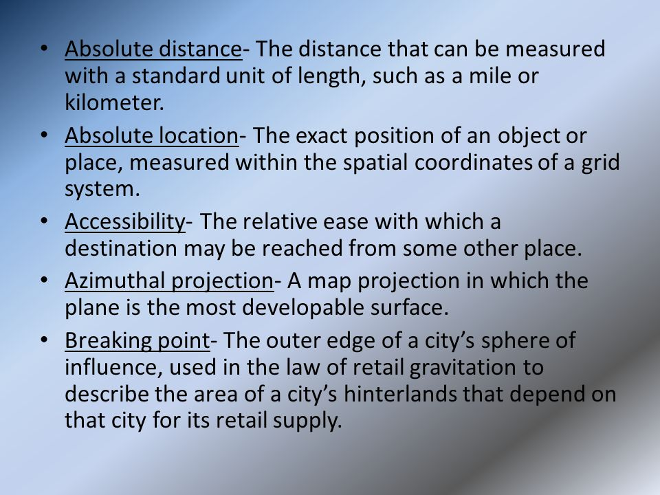 Distance and point of view an essay on classification
