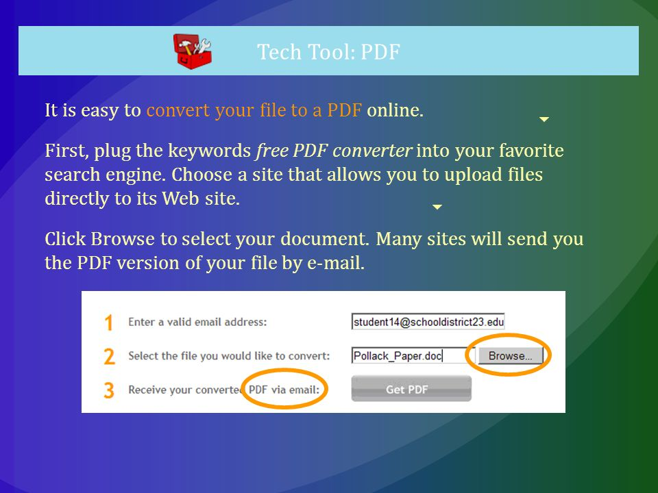 It is easy to convert your file to a PDF online.