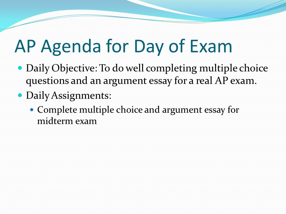 Tomorrow is my English examination. Essays & objective question.?