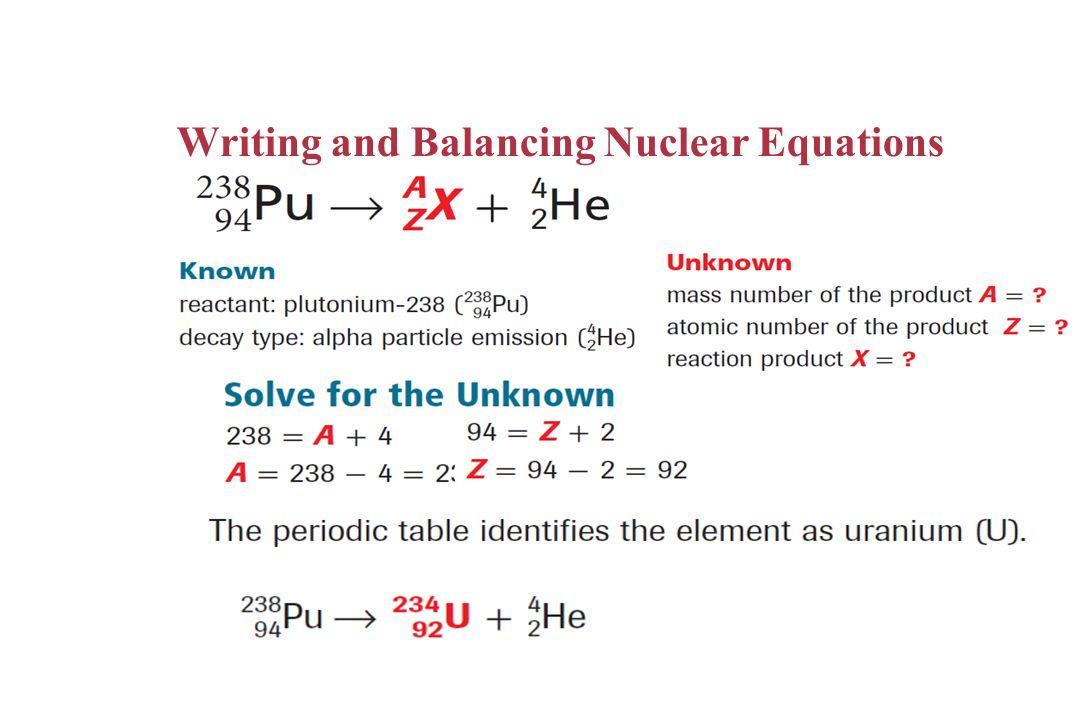 Balancing Nuclear Equations - Jennarocca