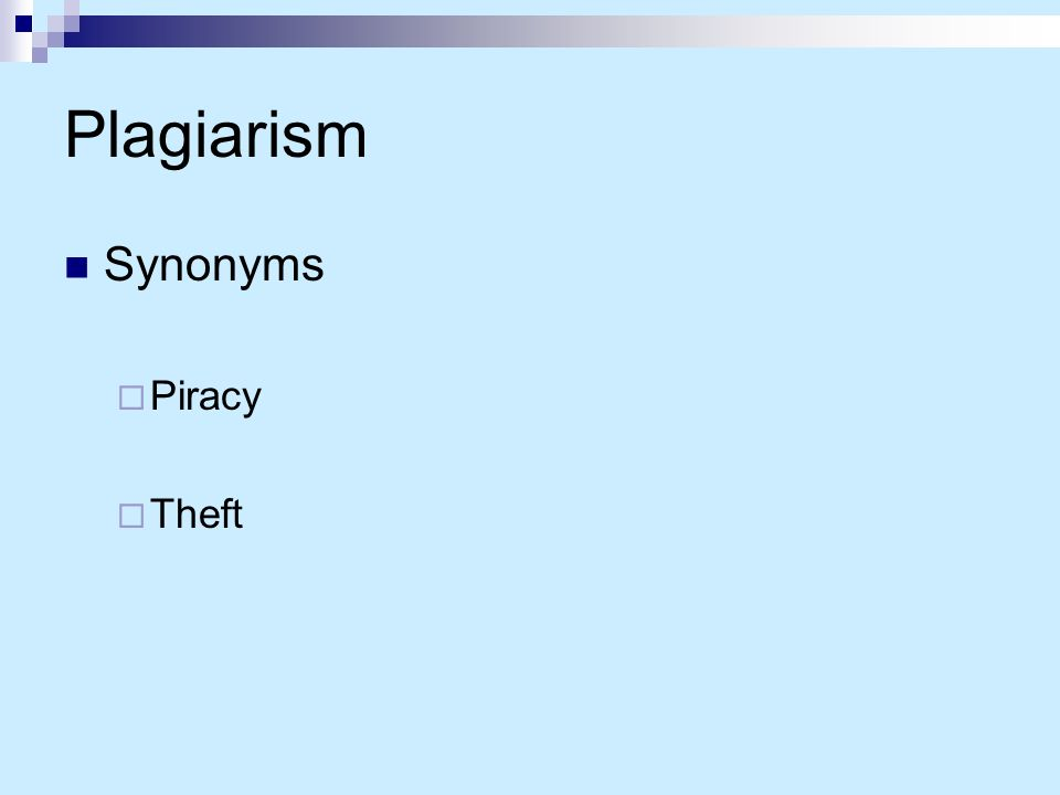 Synonyms for plagiarism