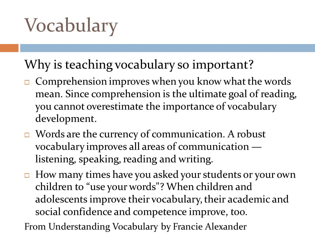 Worksheet Importance Of Vocabulary reading and writing methods seminar 21710 fluency review 7 vocabulary