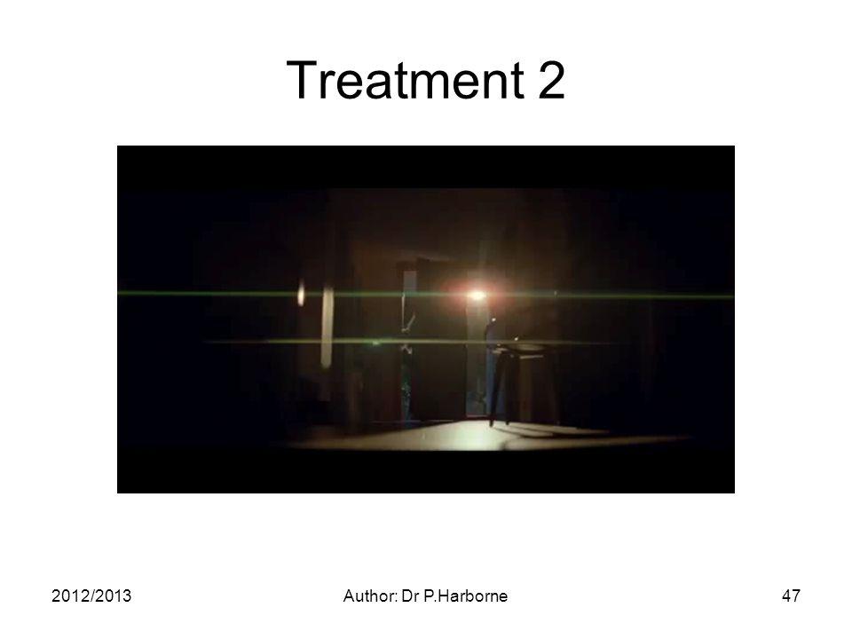 2012/2013Author: Dr P.Harborne47 Treatment 2